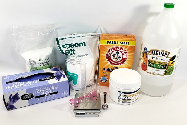 Materials required for the cold pack chemistry experiment.
