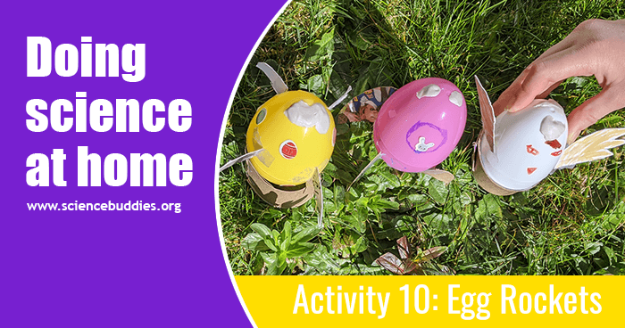 Example of plastic Easter eggs that have been decorated and then filled to launch as baking soda and vinegar rockets