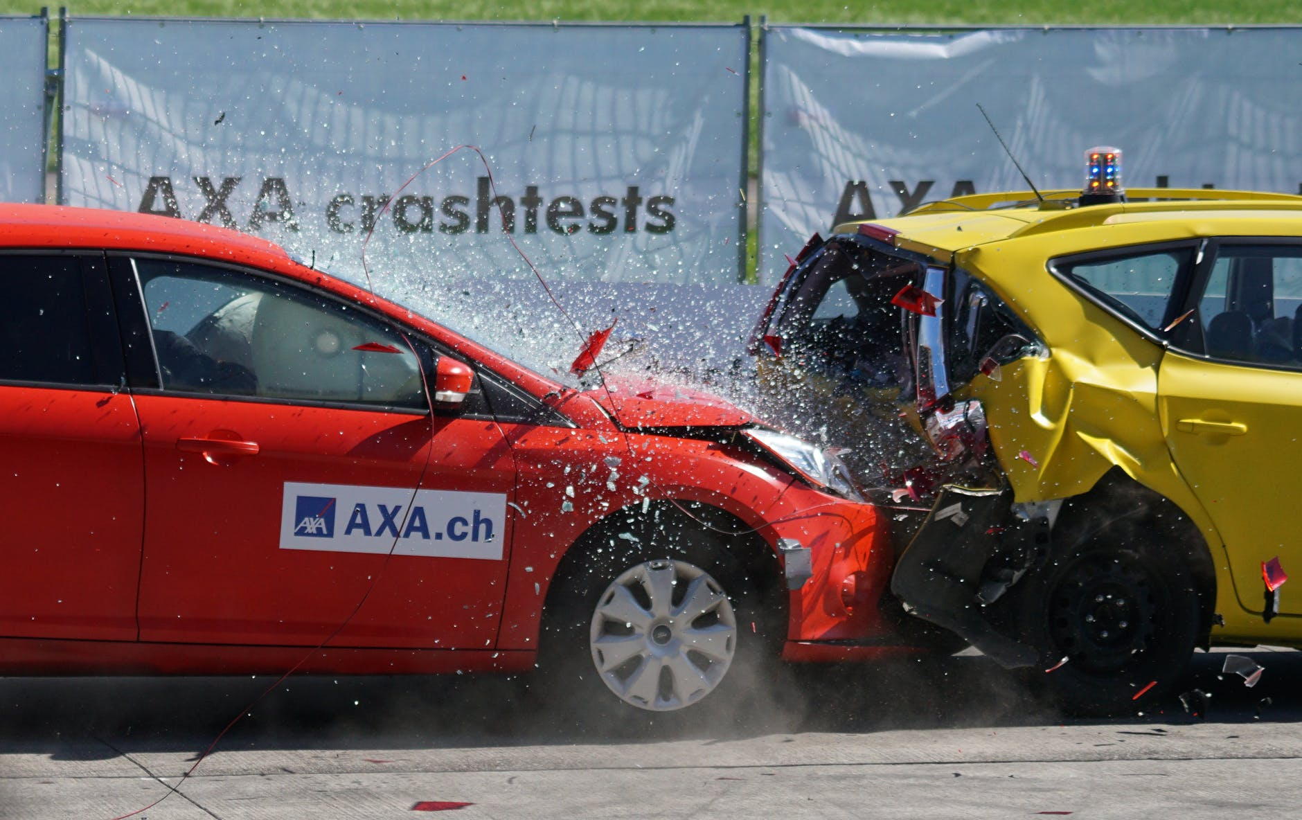 SUV during test crash