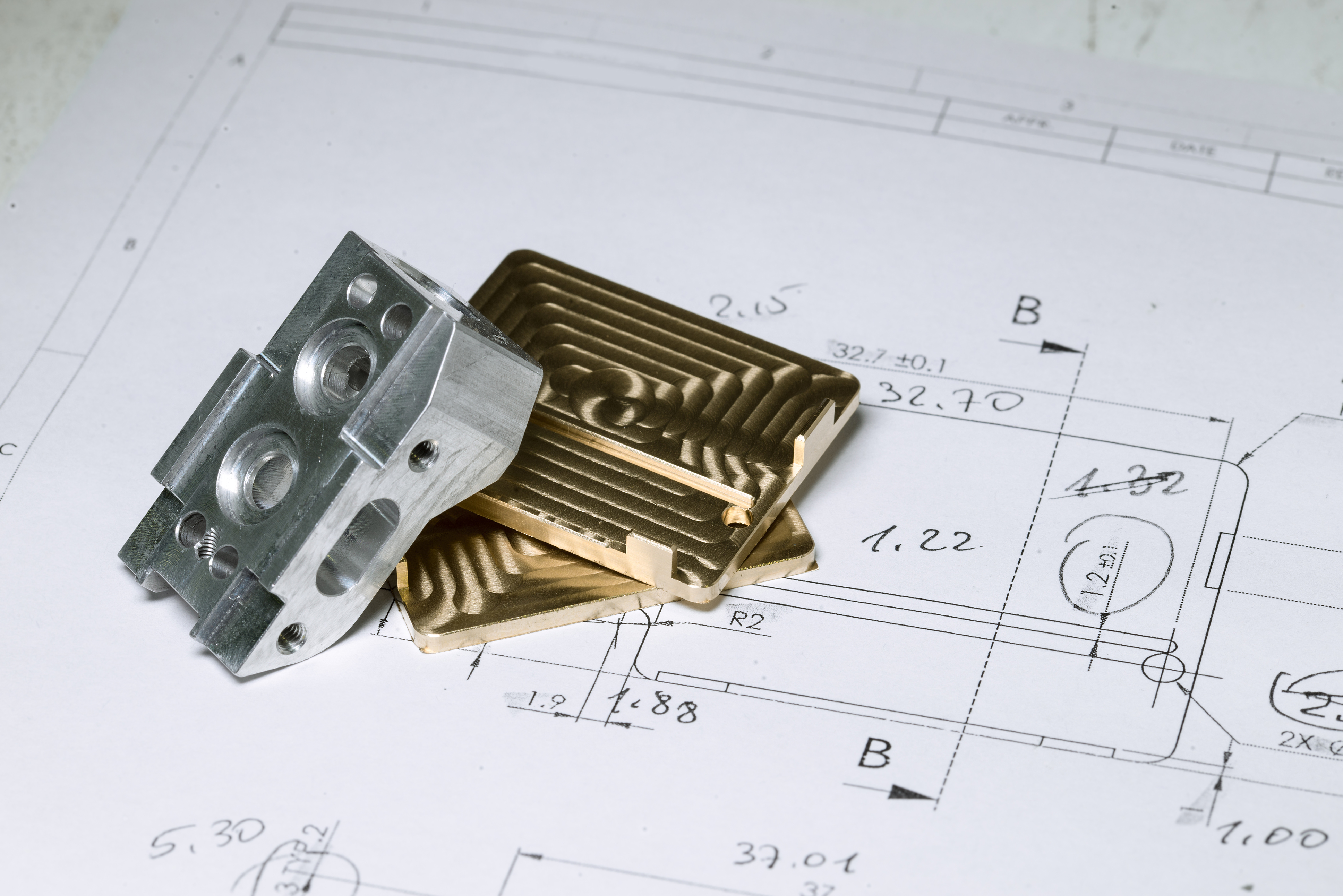 computer model of a parts mold