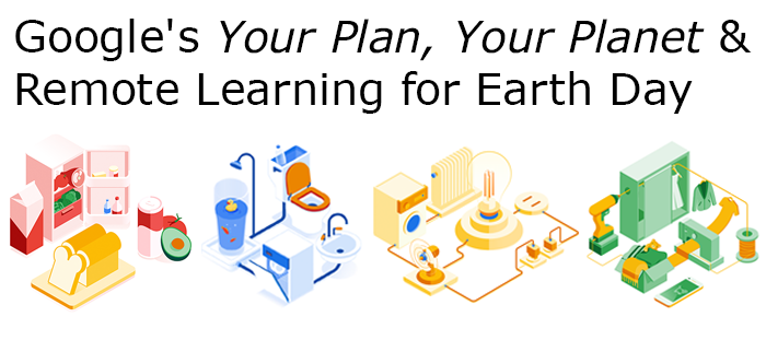 Your Plan Your Planet illustrations highlighting food, water, energy, and stuff we all consume