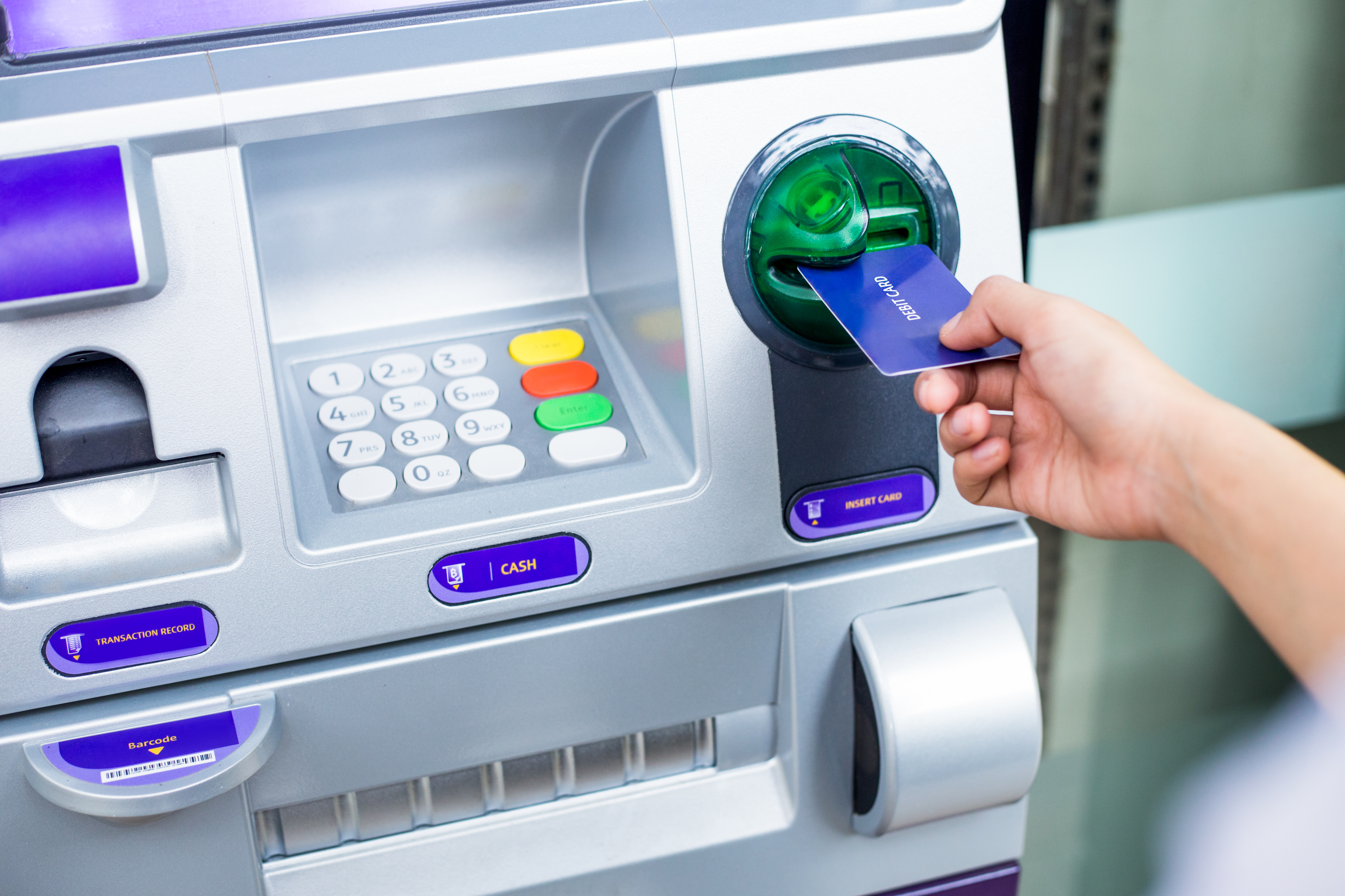 People at ATMs