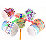 Anemometer wind measuring device made from paper cups and straws