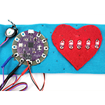 Sample wearable circuit heart monitor Arduino project