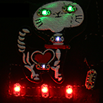 Sample wearable circuit light-up patch