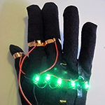 Sample wearable circuit traffic monitor glove