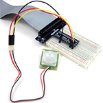 Motion sensor circuit, one of 8 projects for the Raspberry Pi Projects kit