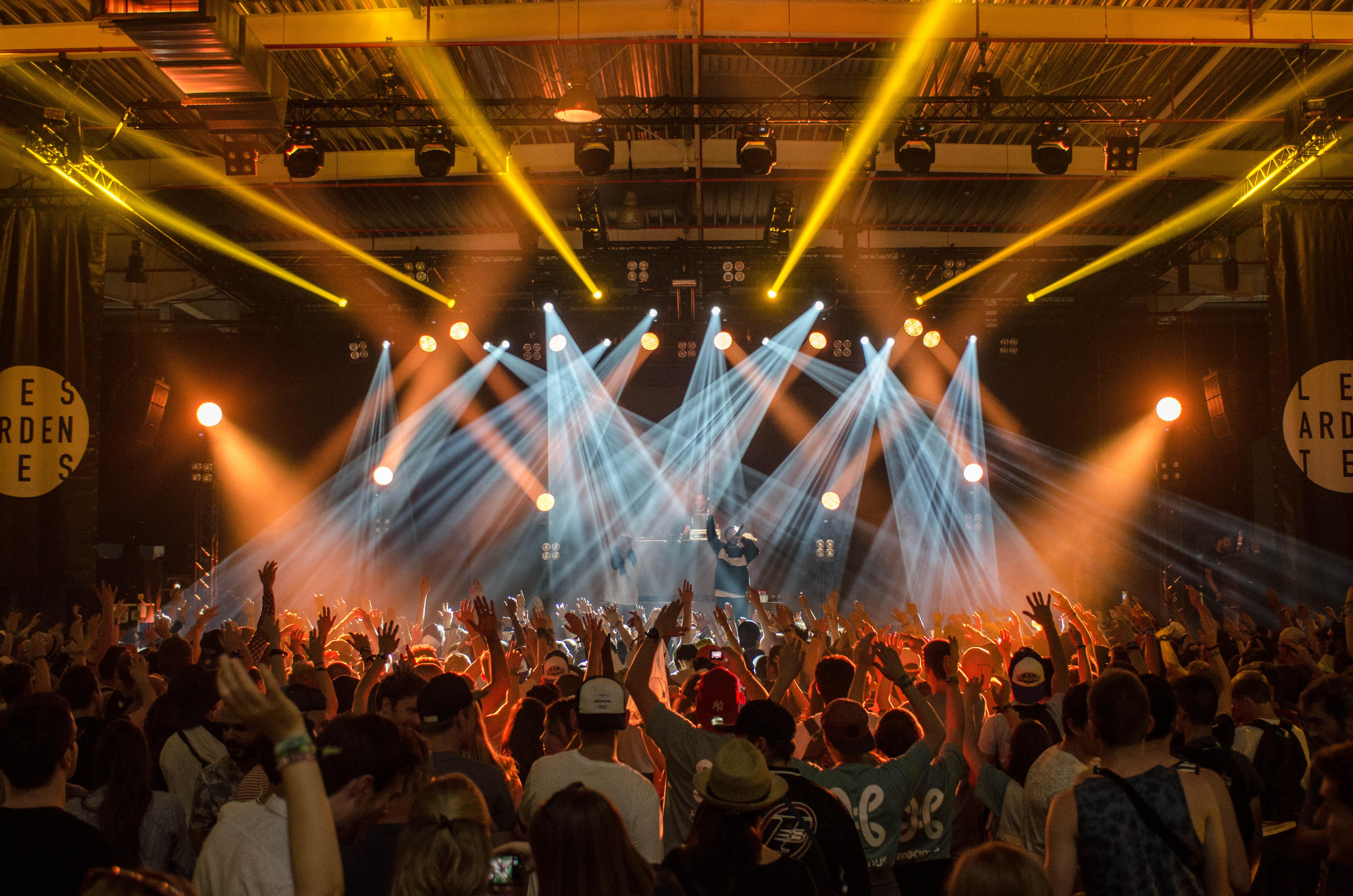 laser show at concert