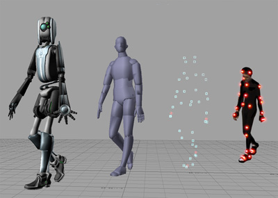 still images from motion capture