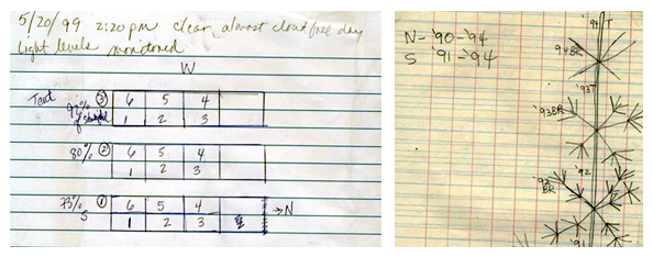Laboratory notebook diagrams from sample student science lab notebook