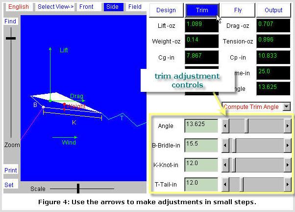 Kite Simulator screenshot: Trim Mode #1