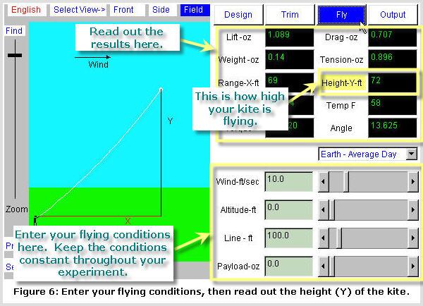 Kite Simulator screenshot: Fly Mode