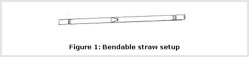 Bendable Straw Set Up