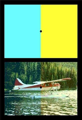 blue-yellow chromatic adaptation test image