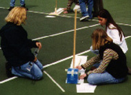 Measuring the length of the meter stick's shadow.