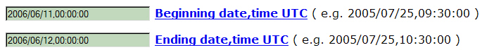 Beginning and end date of an earthquake on the website ncedc.org