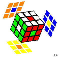Rubik's Cube with a six center spots pattern