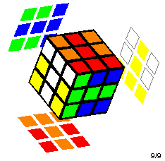 Rubik's Cube with a T pattern on all six sides