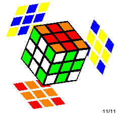 Rubik's Cube with a cross pattern on all six sides