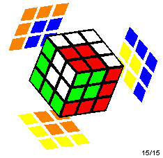 Rubik's Cube with a cube in cube pattern