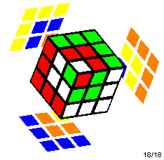 Rubik's Cube with a cube in cube in cube pattern