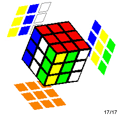 Rubik's Cube with a stripes pattern