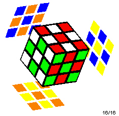 Rubik's Cube with a checkerboard pattern