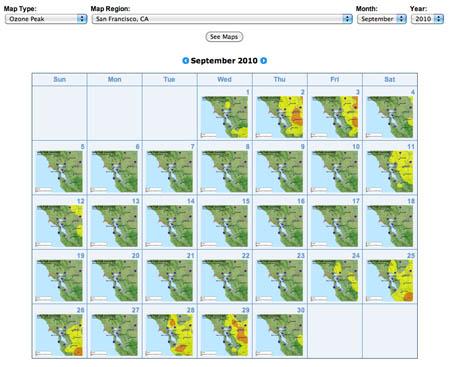 calendar interface
