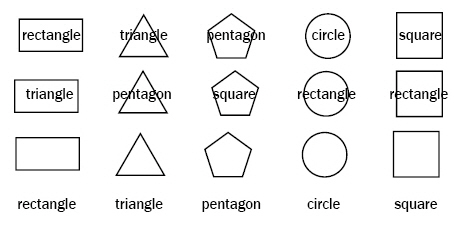 examples of shapes and shape words