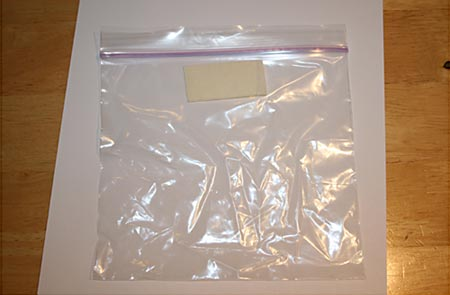 Physics Science Project plastic bag reinforced with tape