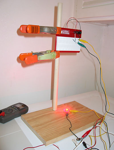 Electricity Electronics Science Project test setup