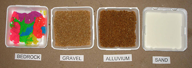 Environmental Engineering Science Project prepared trays hold models of four different soil types