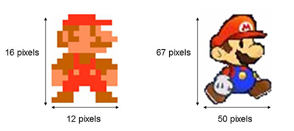Vide and computer Games  Science Project Super  Mario Brothers low and high resolution