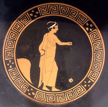 Physics Science Project Greek vase with yoyo