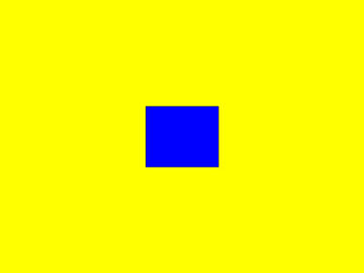 A yellow square with a smaller blue square at its center