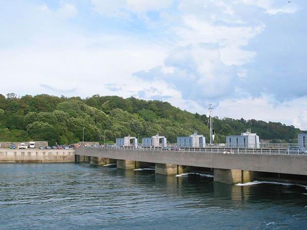 Photo of the Rance tidal barrage in Bretagne, France
