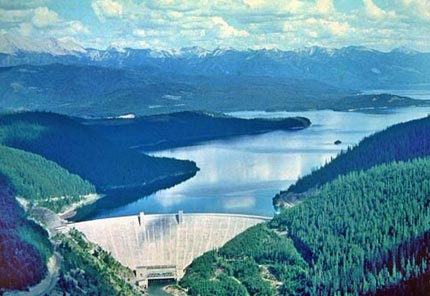 Energy Science Project Hungry Horse Dam in the state of Montana