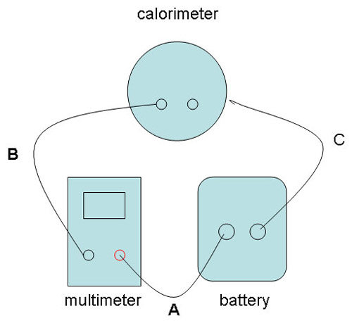 Chemistry Science fair project Wiring diagram for calorimeter