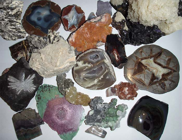 An assortment of minerals