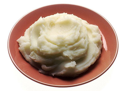 Food Science and Cooking science project <B>Figure 1.</B> A plate of yummy mashed potatoes! (National Cancer Institute, 2001.)