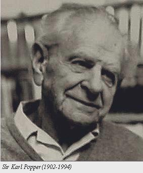 Black and white photo of Karl Popper