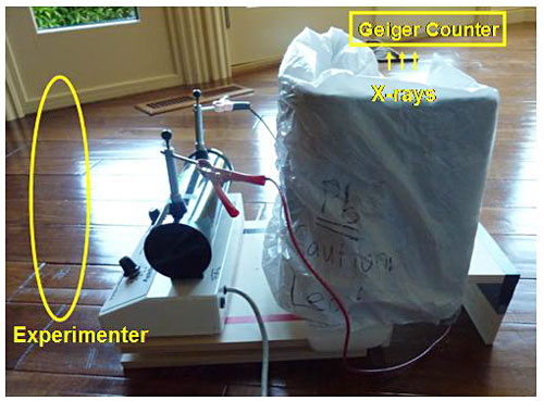 Diagram of how to test a homemade x-ray machine Physics Science Fair Project