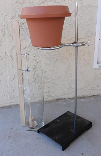 This image shows a possible design of a water clock.