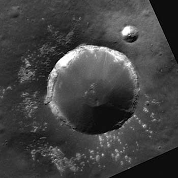 Two simple impact craters on Mercury