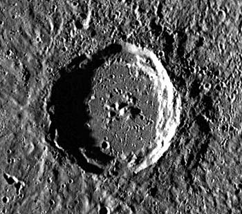 Munch Crater, a complex impact crater on MercuryAstronomy science project