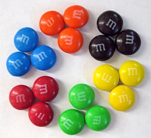 Math science project Image of M&M's colors.