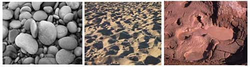 Geology science project Ripples on a beach are an example of self-organizing structures left behind when sediment settles out of flowing water