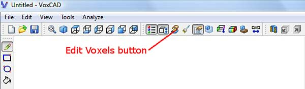 VoxCAD edit voxels button