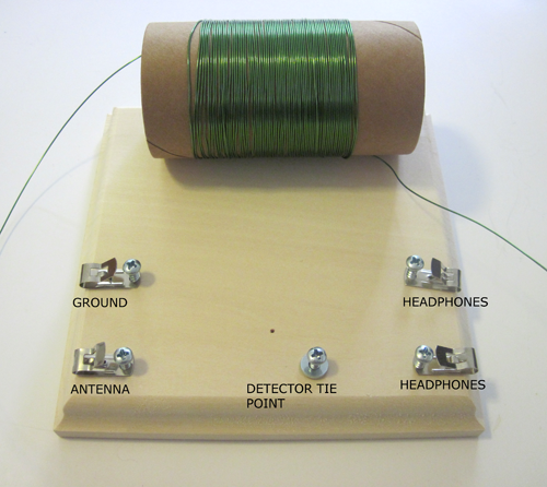 Figure 8: crystal radio detector tie point