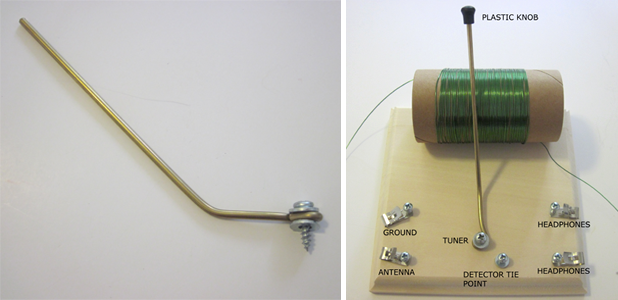 Figure 9: crystal radio tuning rod